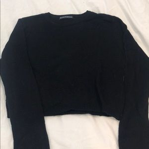 Cropped black brandy Melville sweater